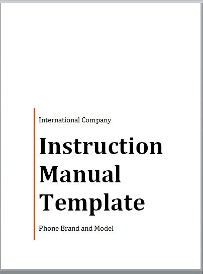 Instruction Manual Template 17