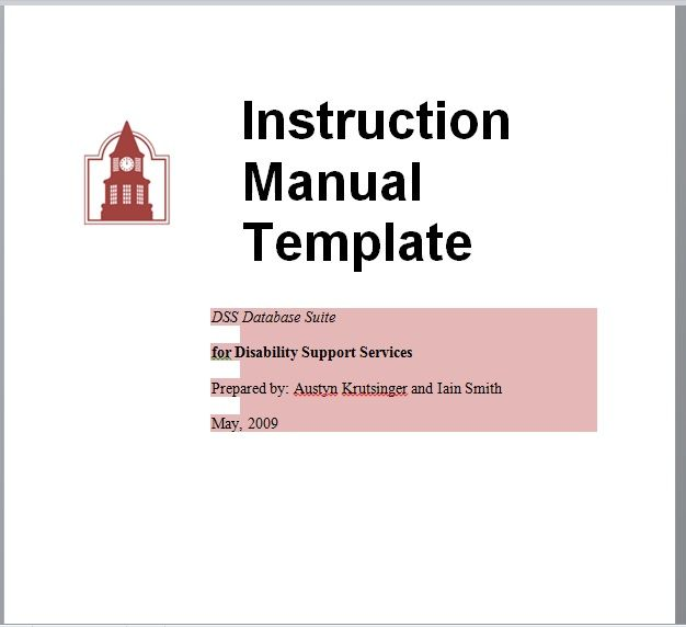 Instruction Manual Template 18