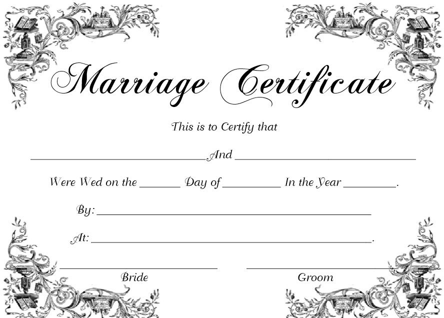 Marriage Certificate Template 03