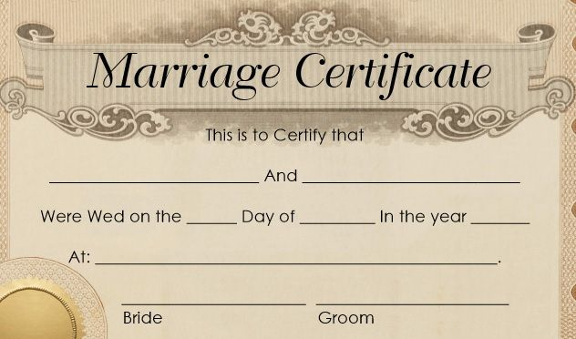 Marriage Certificate Template 05