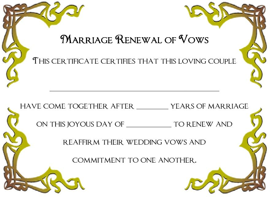 Marriage Certificate Template 14