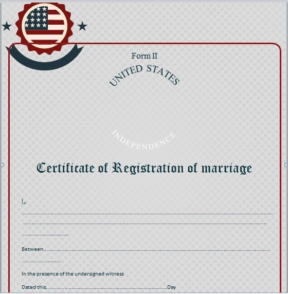 Marriage Certificate Template 15