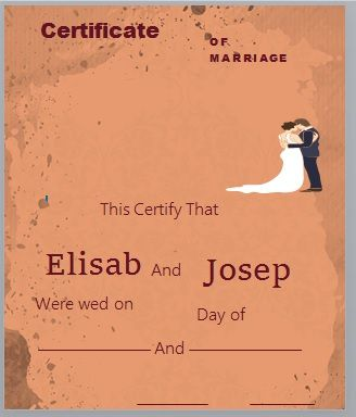 Marriage Certificate Template 16