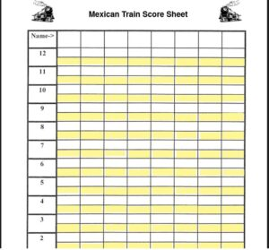 Mexican Train Score Sheet Template 03