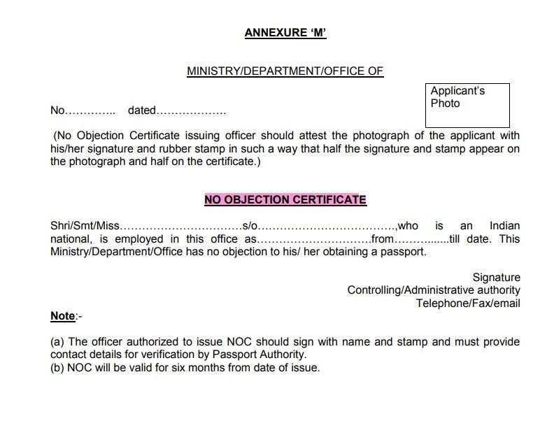 No Objection Certificate Template 08