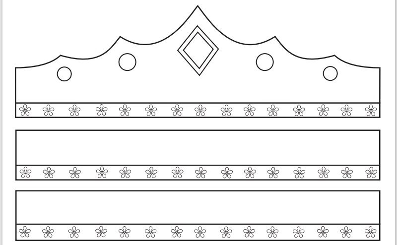 Paper Crown Template 06