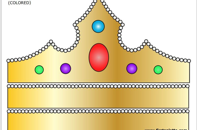 Paper Crown Template 07