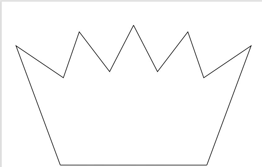 Paper Crown Template 11