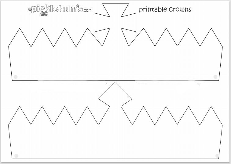 Paper Crown Template 17