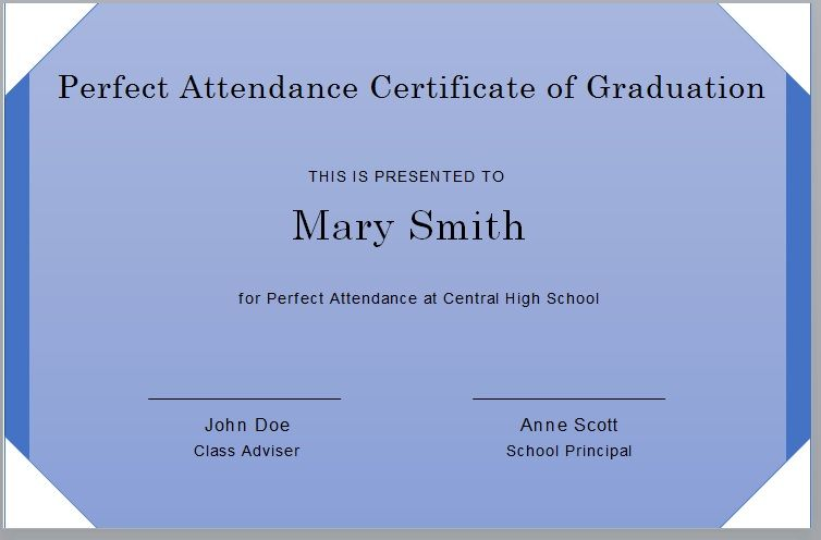 Perfect Attendance Certificate Template 21