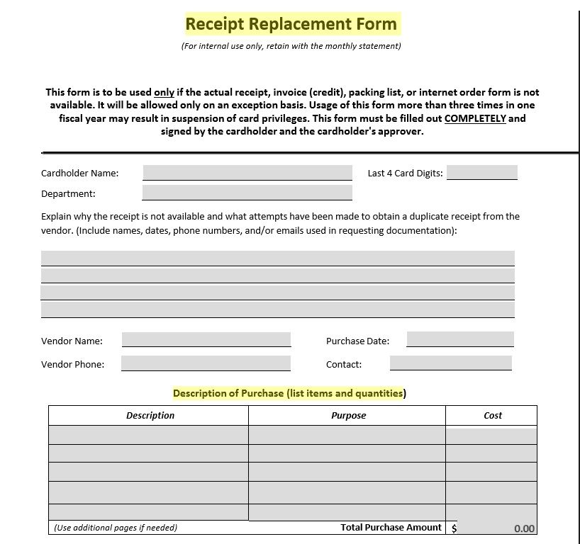 Product Purchase Receipt Template 09