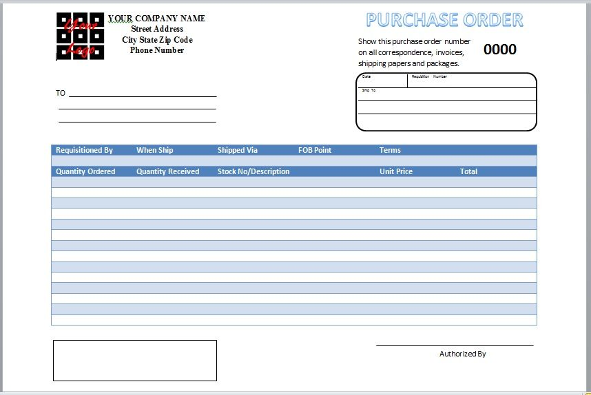 Purchase Order Template 09