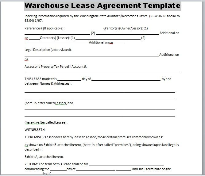 Warehouse Lease Agreement Template 17