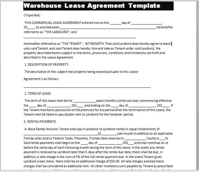 Warehouse Lease Agreement Template 23