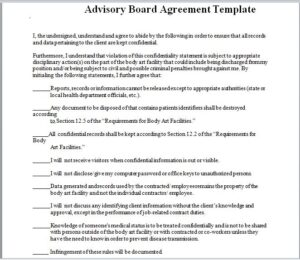 advisory board agreement template 11