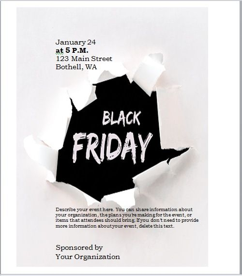 black friday sales flyer template 04