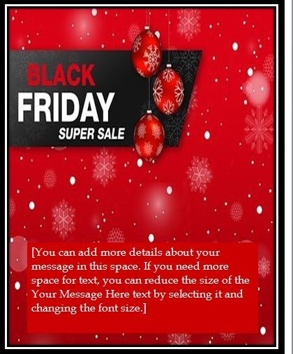 black friday sales flyer template 06