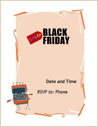 black friday sales flyer template 10