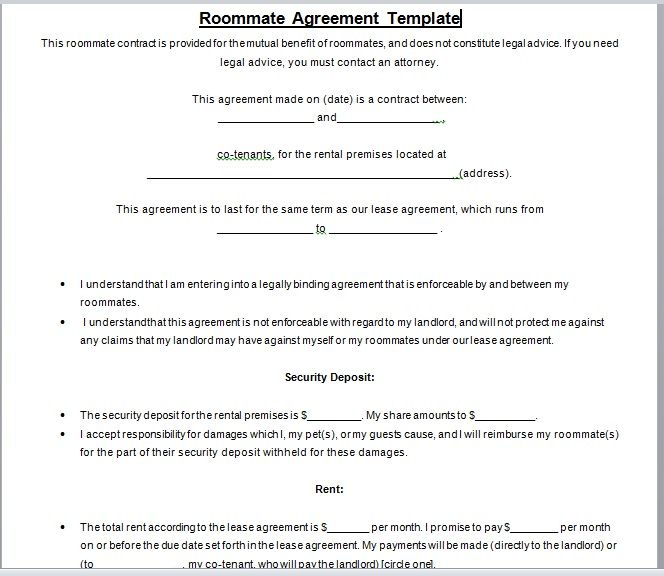 roommate agreement template 02