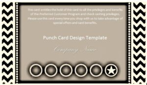 Punch Card Design Template 22